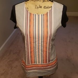 Ann Taylor Factory mixed print top